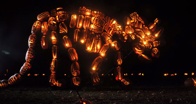 Giant Pumpkin Sculptures At The Great Jack'O Lantern Blaze