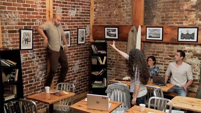 Telekinetic Coffee Shop Prank Shocks Unsuspecting Visitors