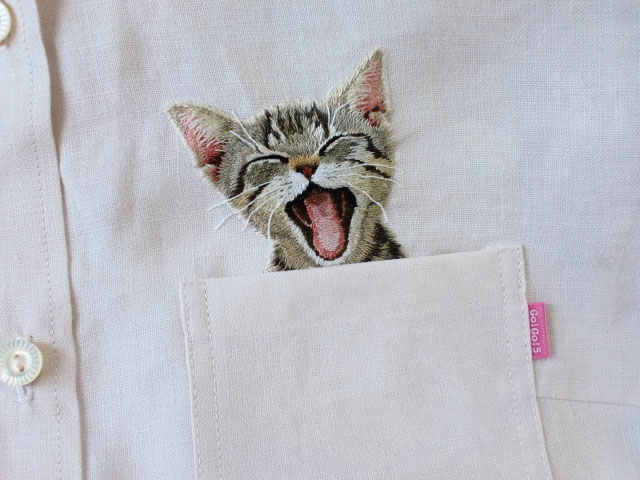 Embroidered Cat Shirts By Hiroko Kubota Go Viral And Sell Like Hot Cakes | Bored Panda