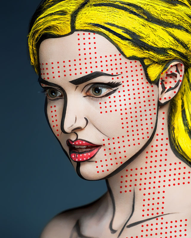Models' Faces Turned Into Stunning Optical Illusions By Creative Russian Duo