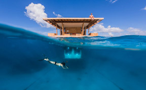 Sleep With The Fishes In Underwater Bedroom At Floating Hotel In Zanzibar