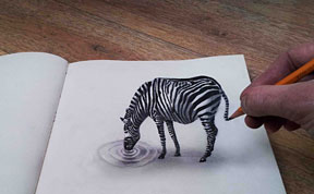 New 3D Pencil Drawings by Ramon Bruin