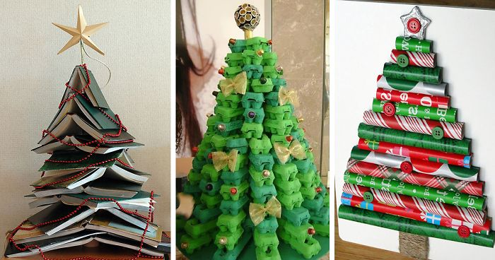 22 creative diy christmas tree ideas bored panda user submission solutioingenieria