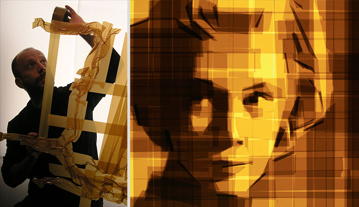 Artist Creates Beautiful Art Using Nothing But Packing Tape