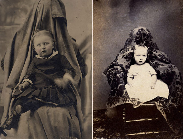 Hidden Mothers: Spooky Photographs of Victorian Babies Held by Their Mothers