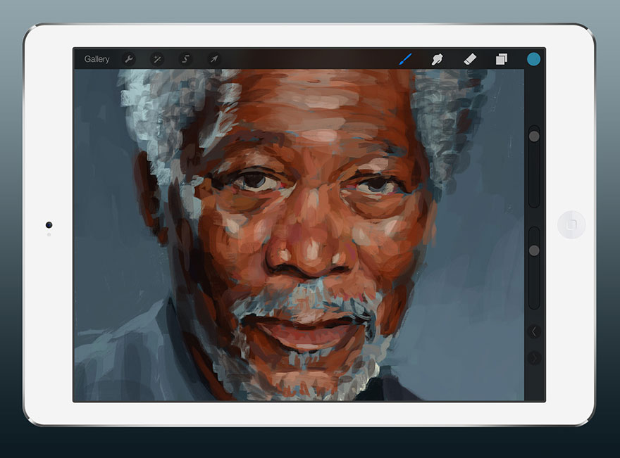 ipad-finger-painting-morgan-freeman-kyle-lambert-1