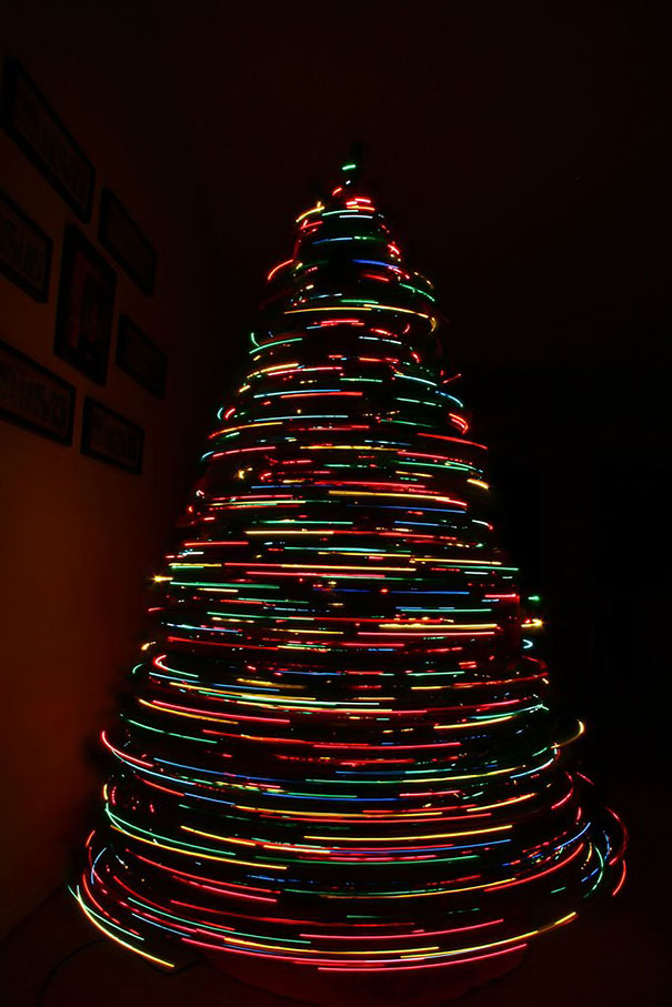 What Happens When You Take A Long Exposure Picture Of A Christmas