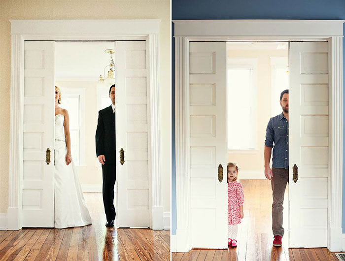 Father And Daughter Recreate Old Wedding Photos To Say Goodbye To Late Wife And Mother