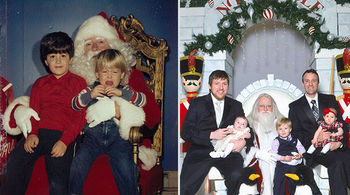 Two Brothers Have Been Taking Pictures With Santa For The Last 34 Years