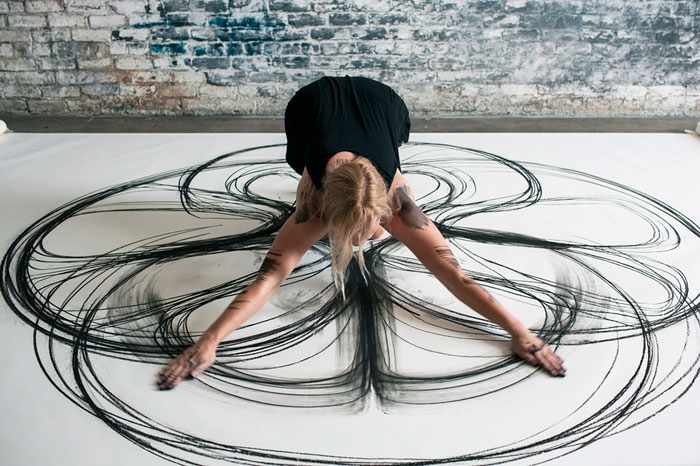 Dance Drawings Artist Turns Dance Moves Into