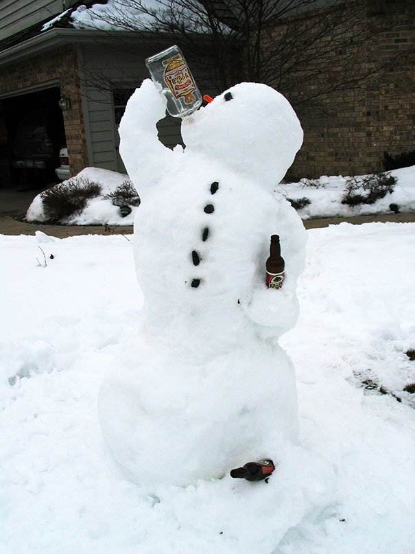 these 30 crazy snowman ideas would make calvin and hobbes