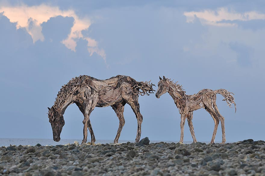 Breathtaking Driftwood Horse Sculptures By James Doran