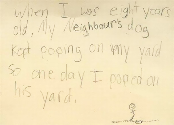 Hilariously Honest Notes From Kids Bored Panda - 22 innocent yet hilarious childrens spelling mistakes