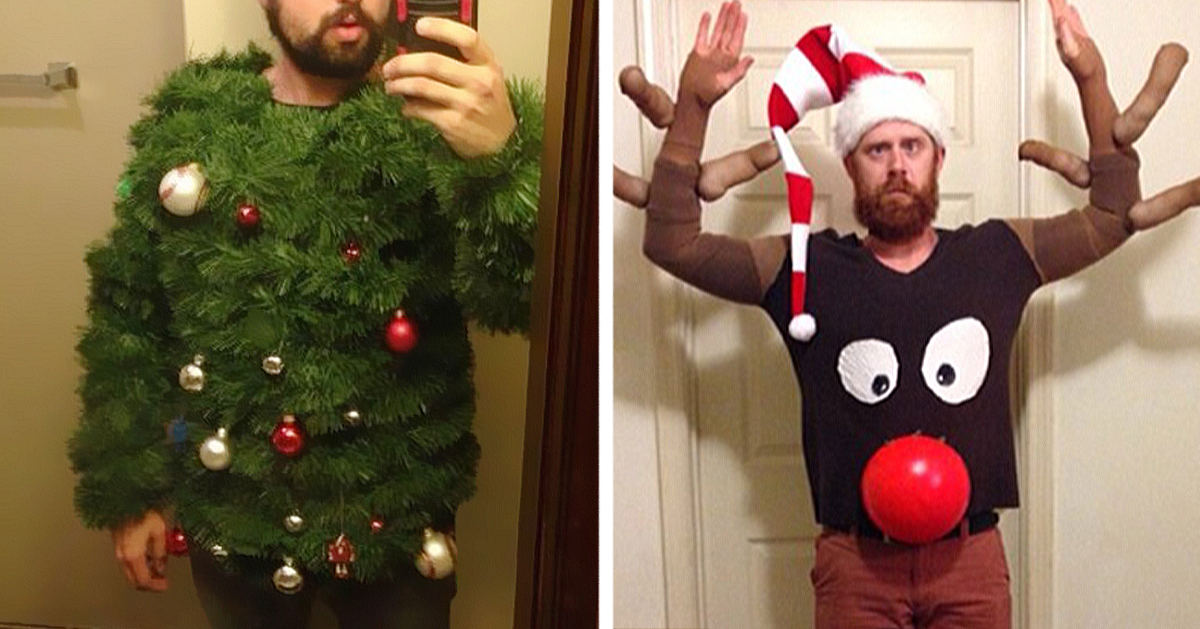 13 of the most creative ugly christmas sweaters bored panda - How To Decorate A Ugly Christmas Sweater