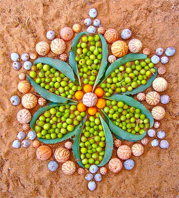 Colorful Mandala Designs Made From Flowers And Plants By Kathy Klein ...