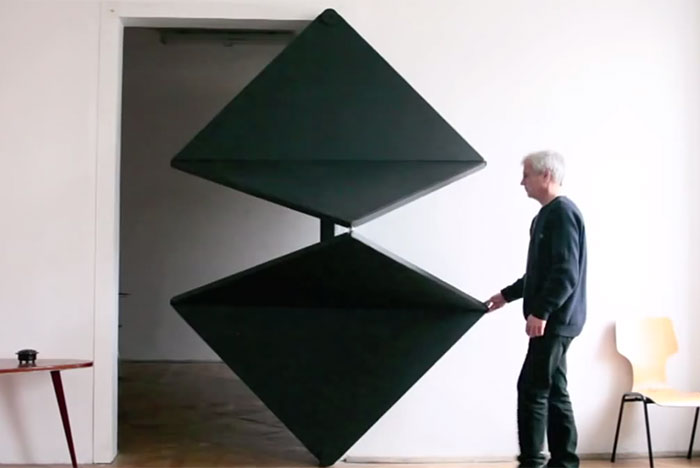 Evolution Door: Artist Reinvents Door Using Innovative Folding Panel Design