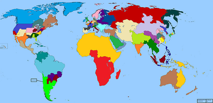 People Lets Play A Game Take This Map Of Regions Divided By GDP - Earth map with country names