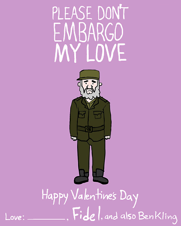Dictator and Famous People Valentine Day Cards by Ben Kling – Funny Be My Valentine Cards