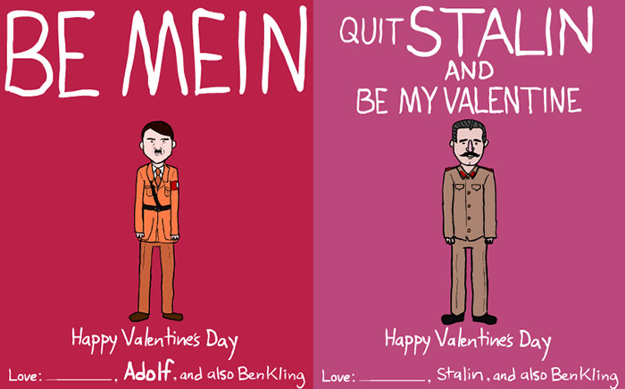 Dictator and Famous People Valentine Day Cards by Ben Kling