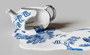 Porcelain China By Livia Marin Looks Like Melting Ice-cream