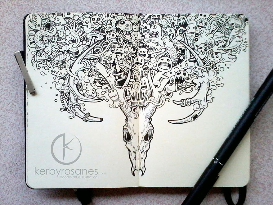 Impressively Detailed Pen Doodles By Kerby Rosanes | Bored ...