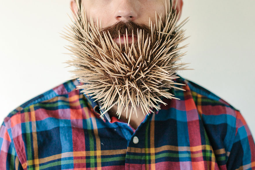 Excellent Will It Beard Guy Puts Household Objects In His Beard Bored Panda Short Hairstyles For Black Women Fulllsitofus
