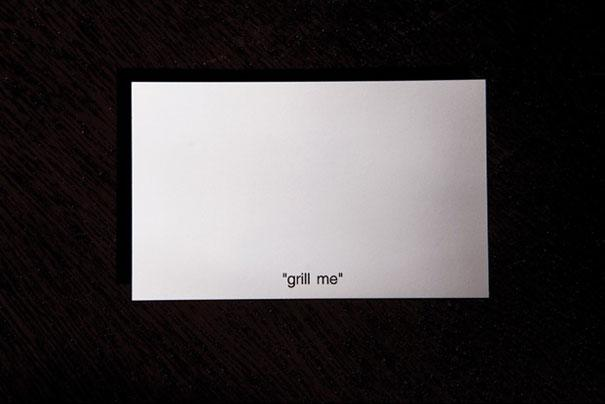 30 of the most creative business cards ever bored panda grillable business card reheart Gallery