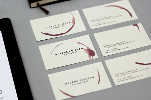 16 sommelire wineglass business card - Business Card Design Ideas