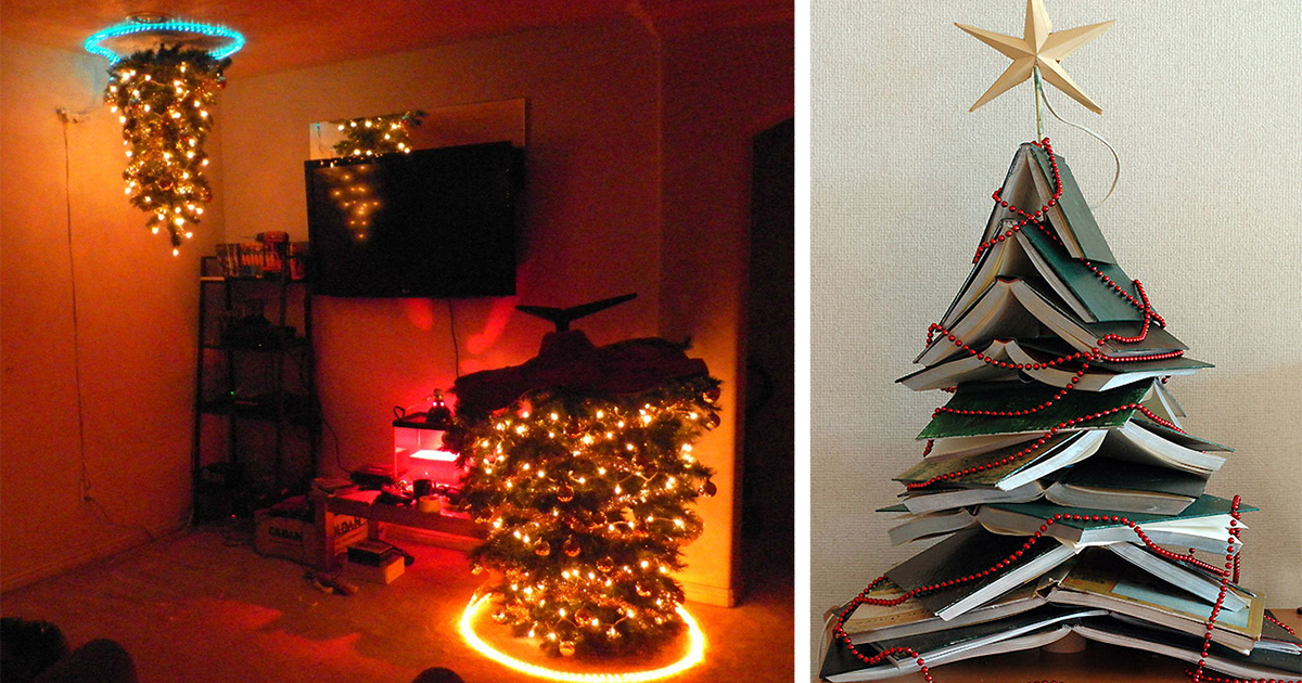 15 of the most creative diy christmas trees ever bored panda solutioingenieria Gallery