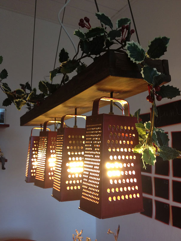 Old graters into lamps