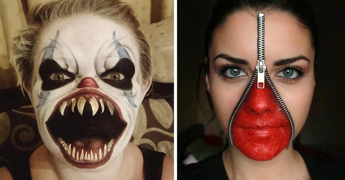 Maquillage Halloween Zipper.260 Of The Creepiest Halloween Makeup Ideas Bored Panda