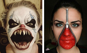 20+ Of The Creepiest  Halloween Makeup Ideas