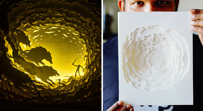 Fairytales Come To Life In Papercut Light Boxes by Hari & Deepti