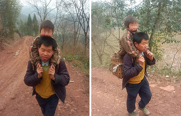devoted-father-carries-son-18-miles-to-school-1