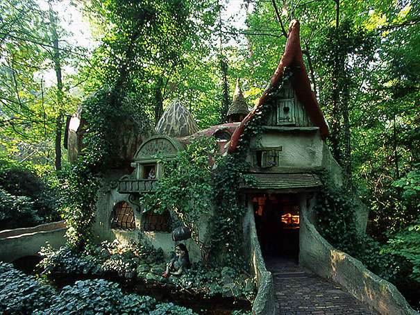 forest house in netherlands - Fairy Tale House Plans