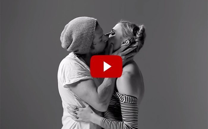 First Kiss: 20 Complete Strangers Asked To Kiss Each Other (VIDEO)