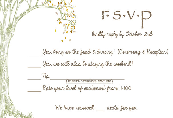 Funny Wedding Invitations Rsvp 1