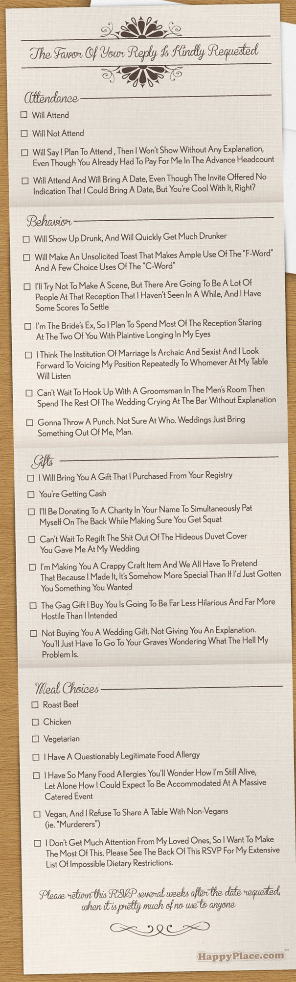Funny Wedding Invitations Rsvp 6