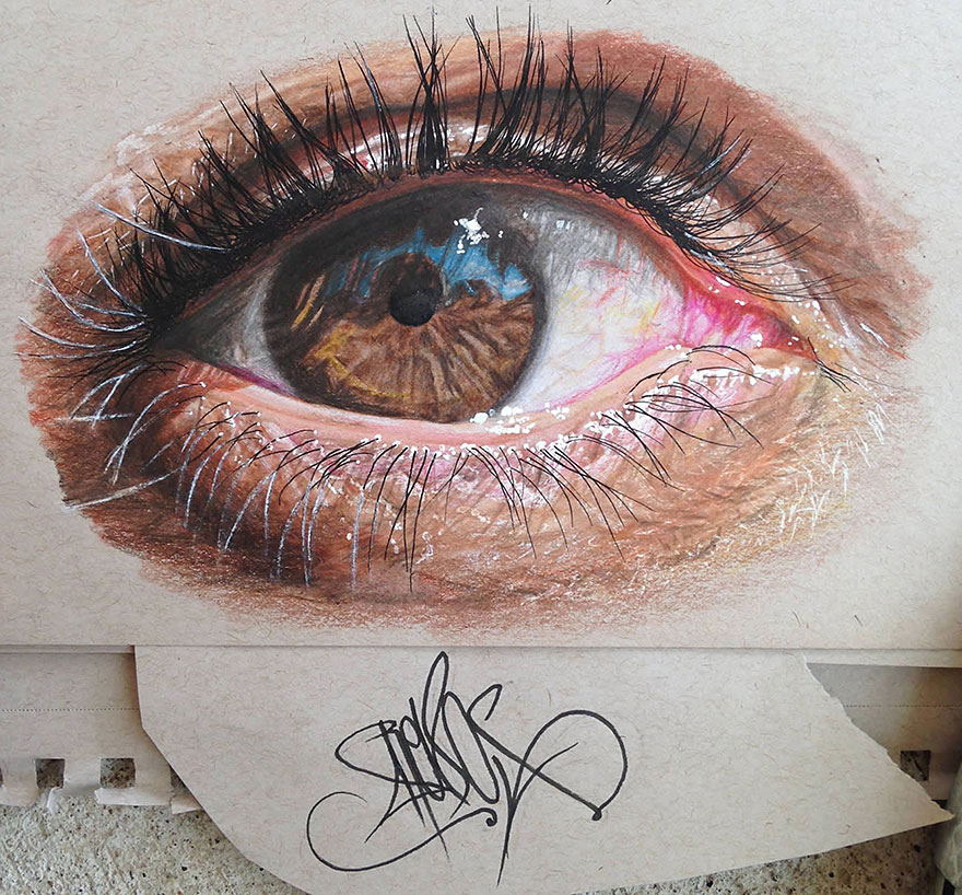 19-Year-Old Artist Draws Unbelievably Realistic Eyes Using ...