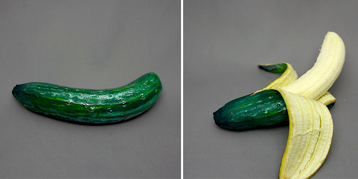 Artist Uses Paint To Disguise Foods As Other Products