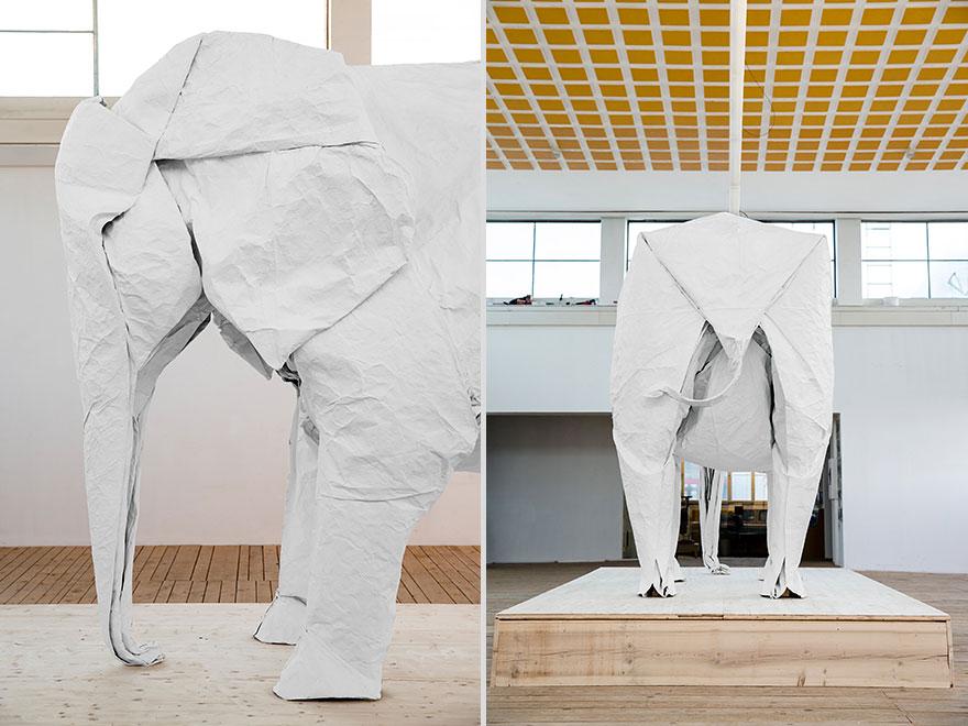 origami-lifesize-white-elephant-sipho-mabona-11