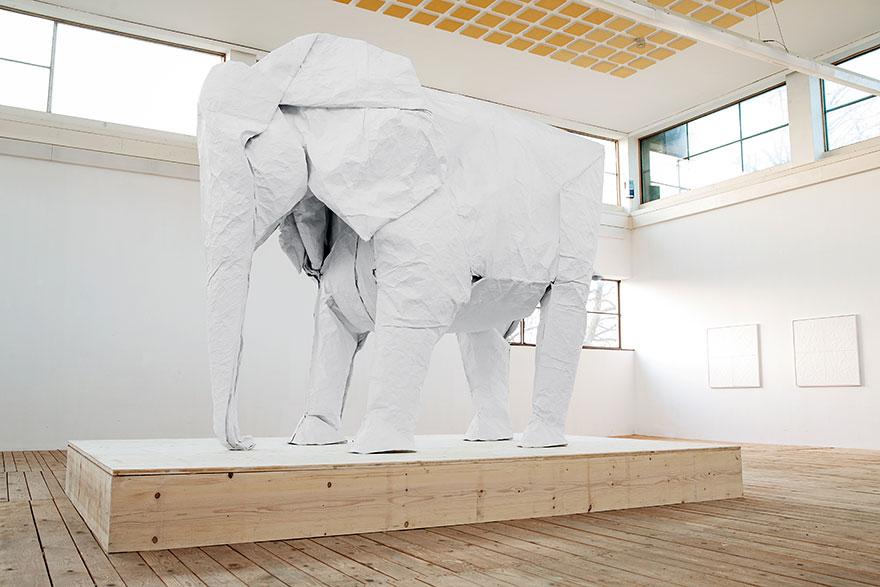 origami-lifesize-white-elephant-sipho-mabona-2