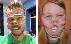 Scotch Tape Selfies: Newest Trend Of Distorting Faces With Tape Goes Viral On Facebook