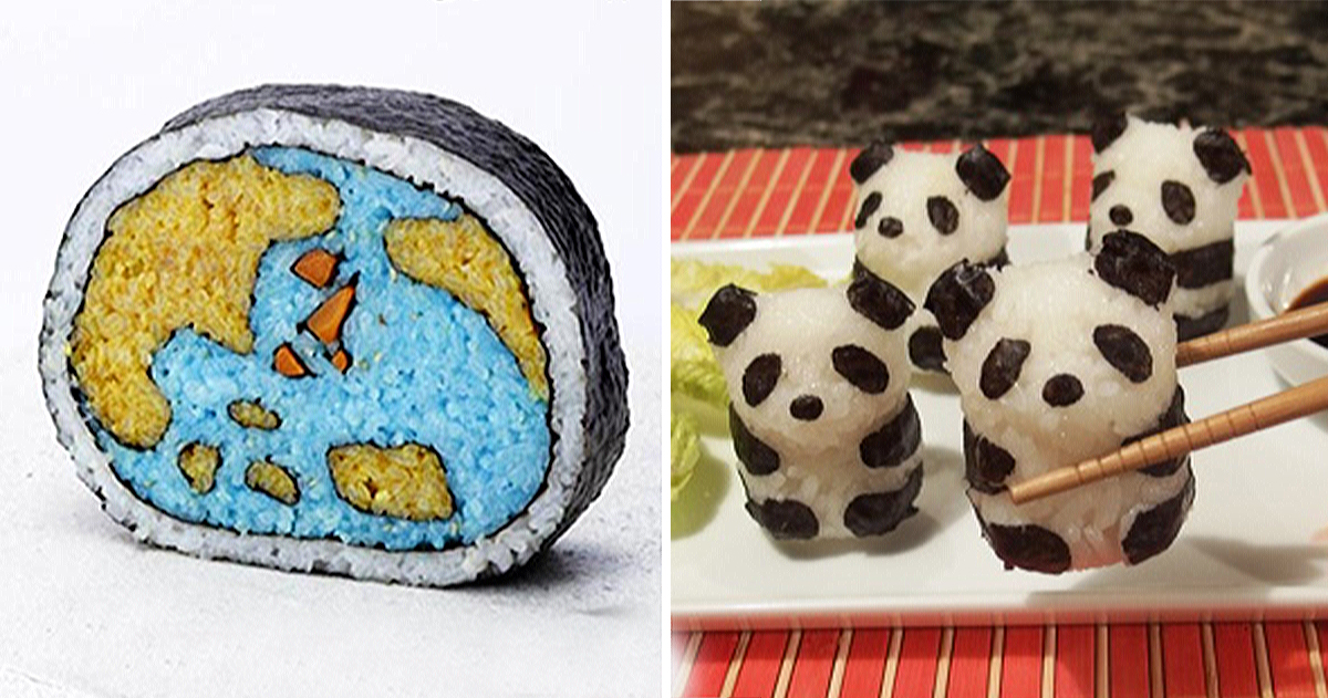 22+ Cute And Creative Pieces Of Sushi Art