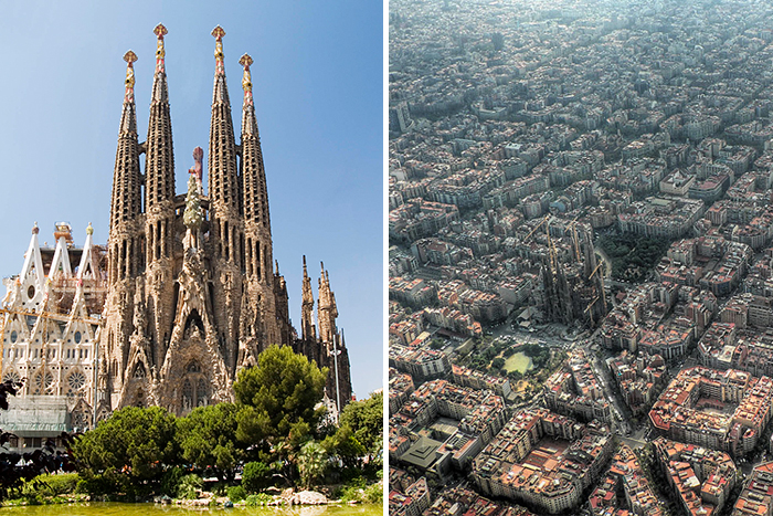 15 famous landmarks zoomed out to show their surroundings for Famous monuments around the world