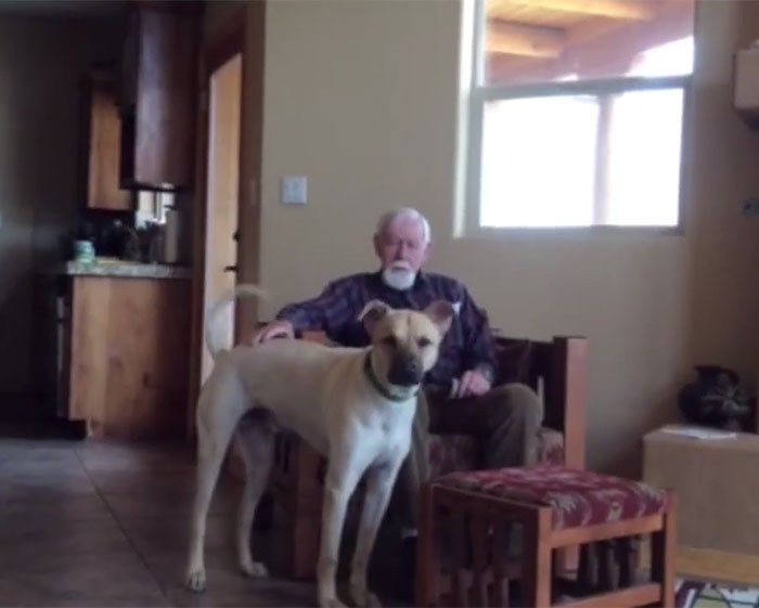 This Father Has Non-Verbal Alzheimer's And Only His Dog Can Make Him Talk