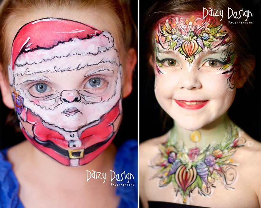 New Zealand Based Artist Turns Her Kids Faces Into