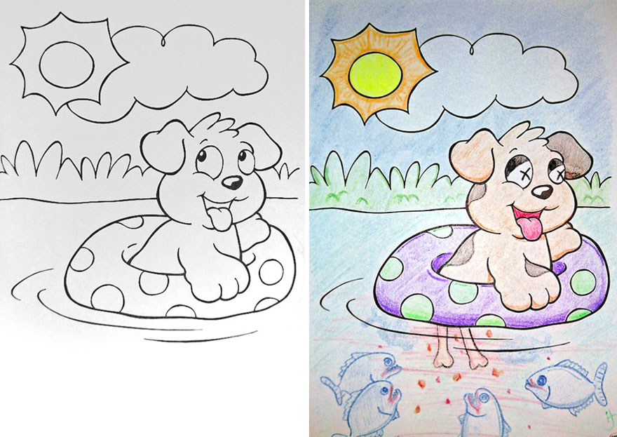funny children coloring book corruptions 10 - Coloring Books