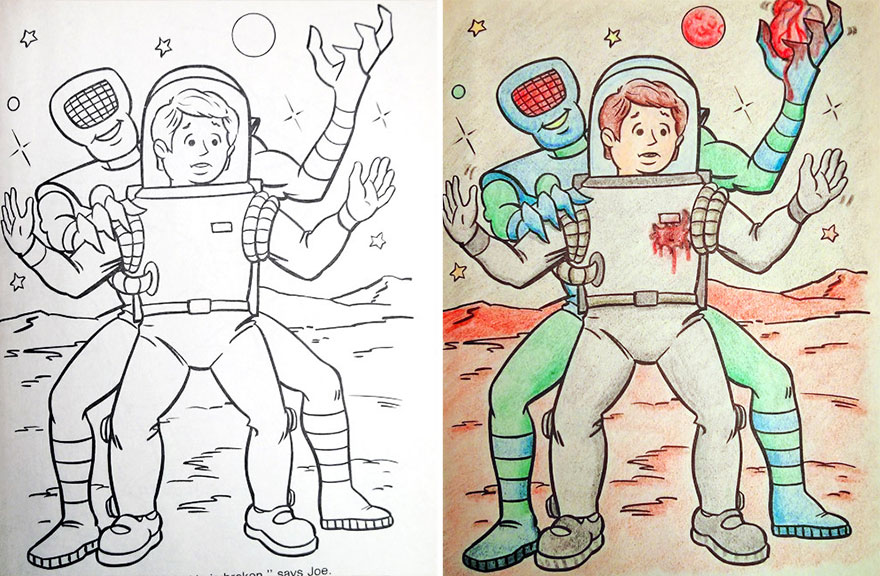 funny children coloring book corruptions 3