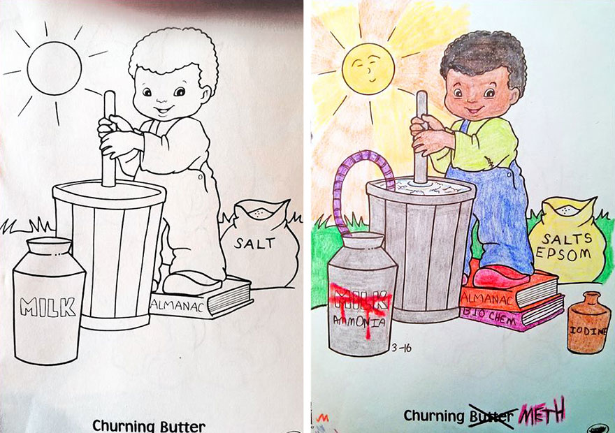funny children coloring book corruptions 8 - Kids Color Book